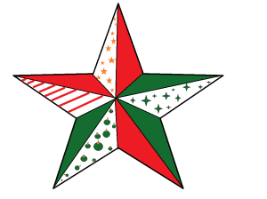 single star with designs