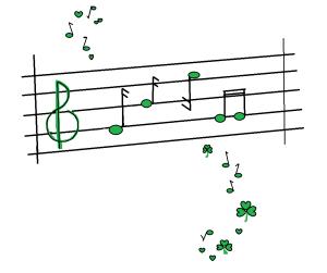 shamrock musical notes 2