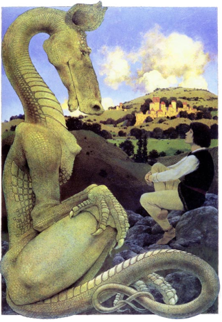 the reluctant dragon maxfield parrish