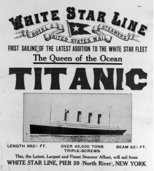 ad for Titanic