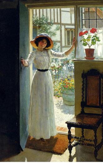 At the Cottage by Margetson