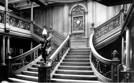 Grand staircase on the Titanic 2