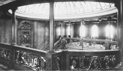 Grand staircase on the Titanic