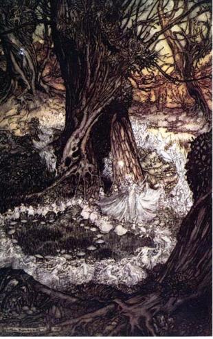 illustration for a Midsummer Night's Dream