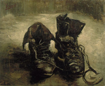 a pair of boots by van gogh