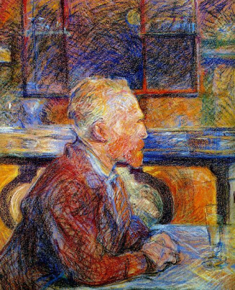 portrait of van gogh by Lautrec