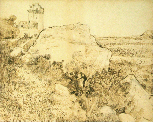 rocks and ruins by van gogh