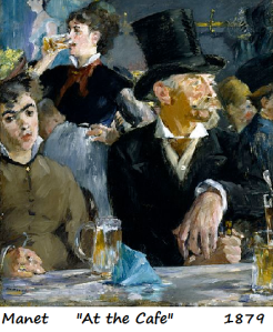 manet at the cafe