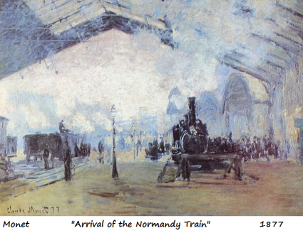 monet arrival of the normandy train