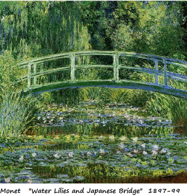 monet water lilies and japanese bridge