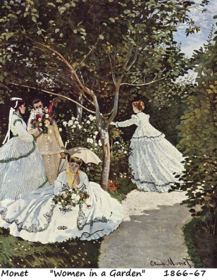 monet women in a garden